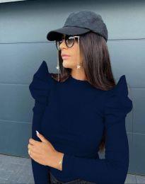 Bluza - kod 2838 - 7 - tamno plava