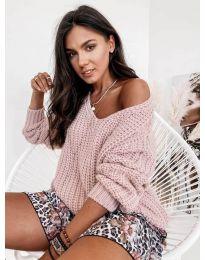 Džemper - kod 6066 - roze