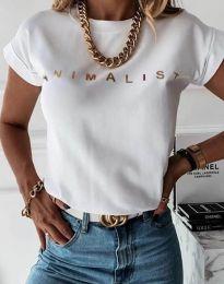 Majica - kod 4079 - bijela