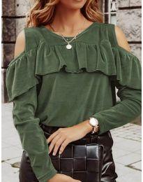 Bluza - kod 4111 - maslinasto zelena