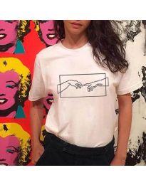 Majica - kod 3177 - bijela