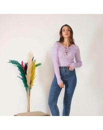 Bluza - kod 6365 - svijetlo ljubičasta
