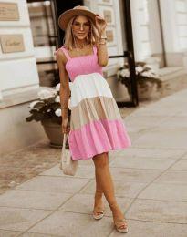 Haljina - kod 11922 - svijetlo ružičasta