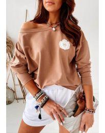 Bluza - kod 4026 - smeđa