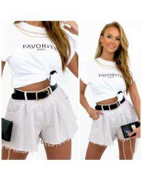 Kratke hlače - kod 4563 - 2 - bijela