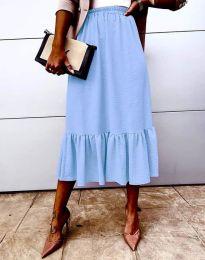 Suknja - kod 3463 - svijetlo plava