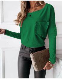 Bluza - kod 4450 - 2 - zelena