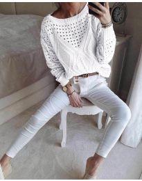 Bluza - kod 6182 - bijela