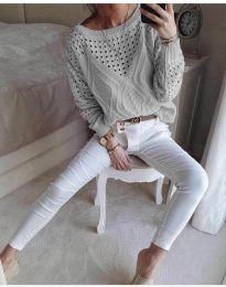 Bluza - kod 6182 - siva