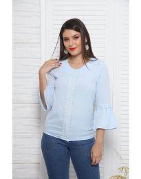Bluza - kod 0629 - 3 - svijetlo plava