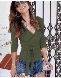 Bluza - kod 9291 - maslinasto zelena