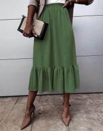 Suknja - kod 3463 - maslinasto zelena
