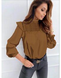 Bluza - kod 6202 - smeđa