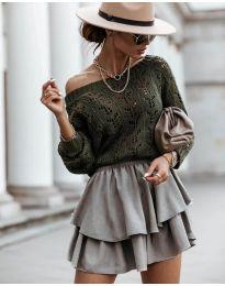 Džemper - kod 5966 - maslinasto zelena
