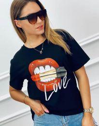Атрактивна тениска в черно - код 4340