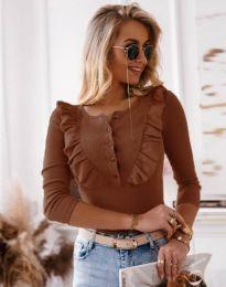 Bluza - kod 9792 - 6 - smeđa