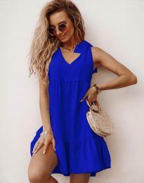 Haljina - kod 7206 - plava