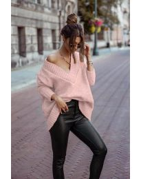Džemper - kod 5952 - roze