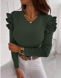 Bluza - kod 1653 - 3 - maslinasto zelena
