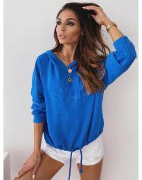 Bluza - kod 4439 - tamno plava