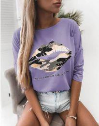 Bluza - kod 5263 - svijetlo ljubičasta