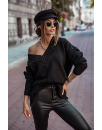 Džemper - kod 5952 - crna