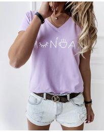 Majica - kod 822 - 1 - svijetlo ljubičasta