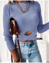 Bluza - kod 4089 - svijetlo plava