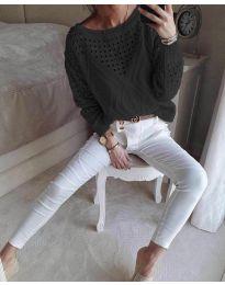 Bluza - kod 6182 - crna