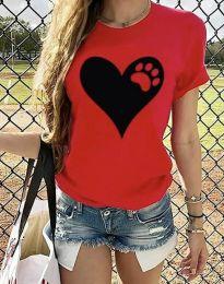 Majica - kod 3204 - 1 - crvena