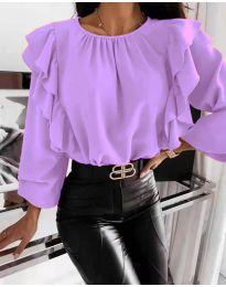 Bluza - kod 4445 - ljubičasta