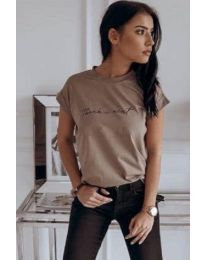Majica - kod 3582 - smeđa