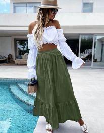 Suknja - kod 3836 - maslinasto zelena