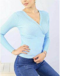 Bluza - kod 6455 - svijetlo plava
