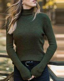Bluza - kod 4596 - maslinasto zelena