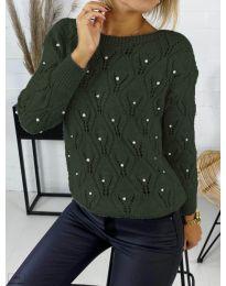 Džemper - kod 392 - maslinasto zelena