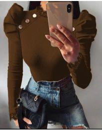 Bluza - kod 9630 - 1 - smeđa