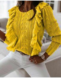 Džemper - kod 9087 - žuta