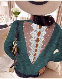 Bluza - kod 7077 - zelena