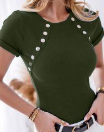 Majica - kod 0163 - 2 - maslinasto zelena
