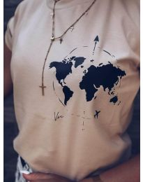 Majica - kod 478 - 3 - kapućino