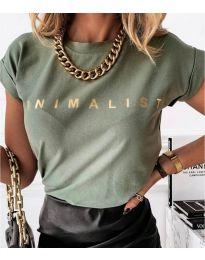 Majica - kod 4079 - zelena