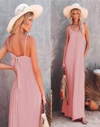 Haljina - kod 4673 - svijetlo ružičasta