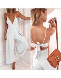Stilski ženski kombinezon u bijeloj boji - kod 720