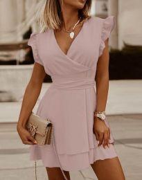 Haljina - kod 5654 - svijetlo ružičasta