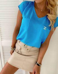 Bluza - kod 6306  - 4 - svijetlo plava