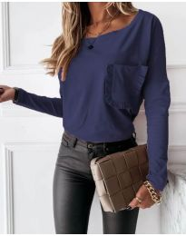 Bluza - kod 4450 - 4 - tamno plava