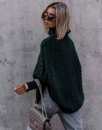 Džemper - kod 24831 - tamno zelena