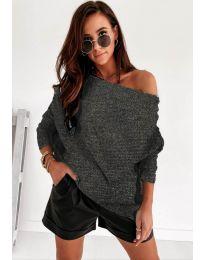 Džemper - kod 4323 - tamno siva