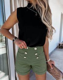 Kratke hlače - kod 6815 - maslinasto zelena
